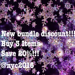 Other - 🦄New bundle discount! Buy 3 items save 20%!!!🦄